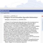 A Magyar Orvosi Kannabisz Egyesület közleménye